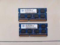 2x 2GB PC3-8500 Nanya Modules