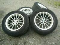 Bmw wheels 16'' 5x, mint condition, good tyres.