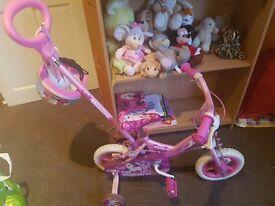 Girls unicorn bike hardly been used
