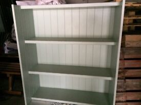 Tongue and groove MDF kitchen shelving unit in excellent condition
