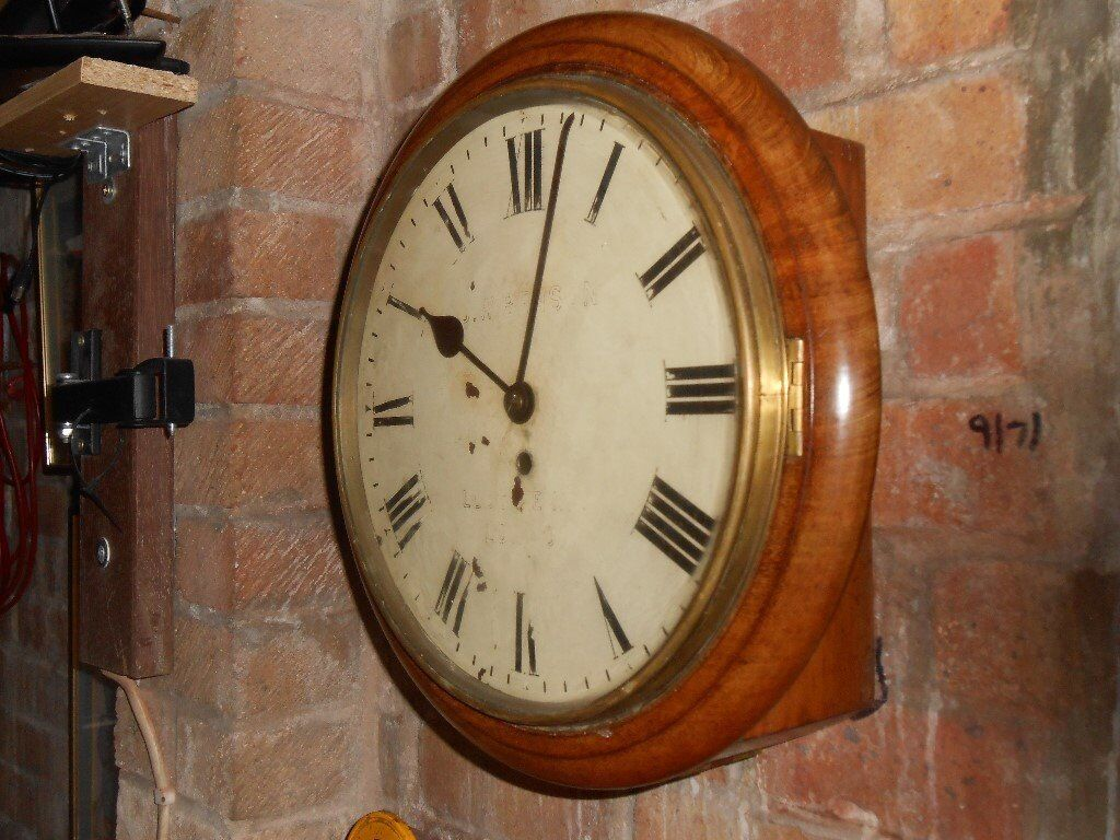 Victorian Wall Clock 7 Day Chain Fusee Movement In