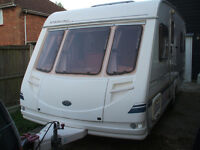 touring caravan STERLING EUROPA 490 FIXED BED 2001 ,FOUR BERTH