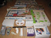 NINTENDO Wii MEGA BUNDLE, CHECK LISTING AND PHOTO'S, WII FIT BOARD, DANCE MAT +++