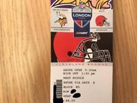 2x tickets Minnesota Vikings v Cleveland Browns NFL - Twickenham - 29 Oct