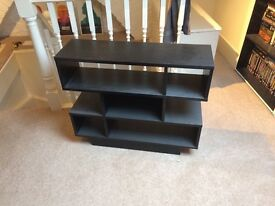 Black shelving unit
