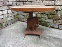 Elephant carved coffee table L 60cm W 46cm H 45cm