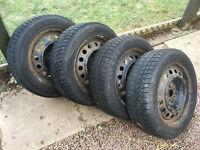Set of 4 winter tyres on steel wheels for Toyota Avensis 2004, Volvo seat skoda