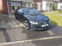 Audi A7 Black. 3 letre. fully loaded. 20inch alloys. not bmw, mercedes