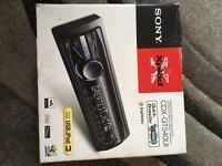 Sony CDX-GT540UI car radio and CD player.