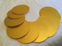 "12"" Gold cake boards"
