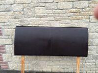 King Size Headboard - Chocolate 'Leather Look'
