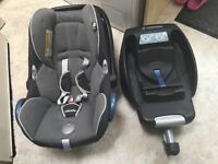 Baby car seat - Maxi cosi infant carrier with easy fix base