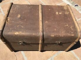 Vintage Wooden Travel Trunk
