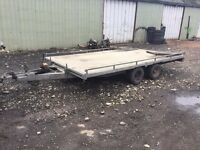 TILT BED PLANT TRAILER COMES WITH RAMPS IFOR WILLIAMS