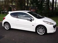 2009 PEUGEOT 207 1.6 GTI PACK *RARE CAR* LOW MILES* POLAR WHITE!! LIKE TYPE R CUP ST GOLF VXR EVO A3