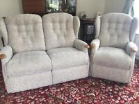 """Sofa, chair and """"lift and rise"""" recliner"""
