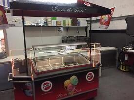 Ice cream freezer display/cart