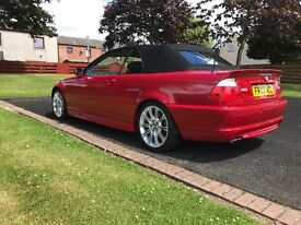 BMW 325ci low mileage msport red convertible