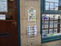 HANGING WIRE NEWSPAPER RACK - NEW - for newsagents or estate agents