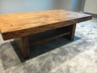 Solid wood table and TV stand