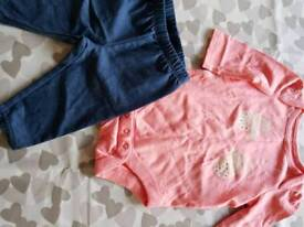 Gap 0-3 baby girl outfit never been worn