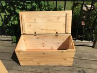Pine storage chest toys/other