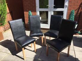 4 Black Dining Chairs Brand New
