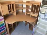 Corner desk and storage unit