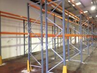 5 bay run of dexion pallet racking ( storage , shelving )