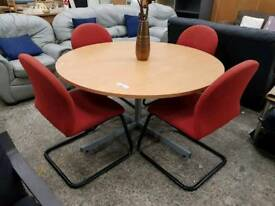 Large meeting table and 4 chairs