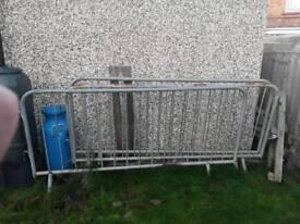 Metal security fences
