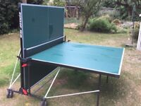 Dunlop Evo 500 Table Tennis Table Outdoors