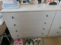 4 drawer chest of drawers with matching dressing table