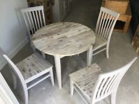 John Lewis Dining table and 4 chairs, as new condition