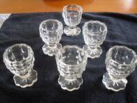 Retro Glass Egg Cups
