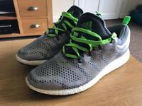 MENS ADIDAS ROCKET BOOST RUNNING TRAINERS HARDLY WORN COST £109.99 SELLING £24.99