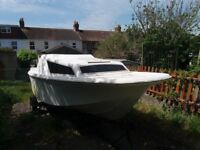 Boat project with 40 hp mariner with remotes and trailer