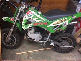 Petrol motor dirt bike