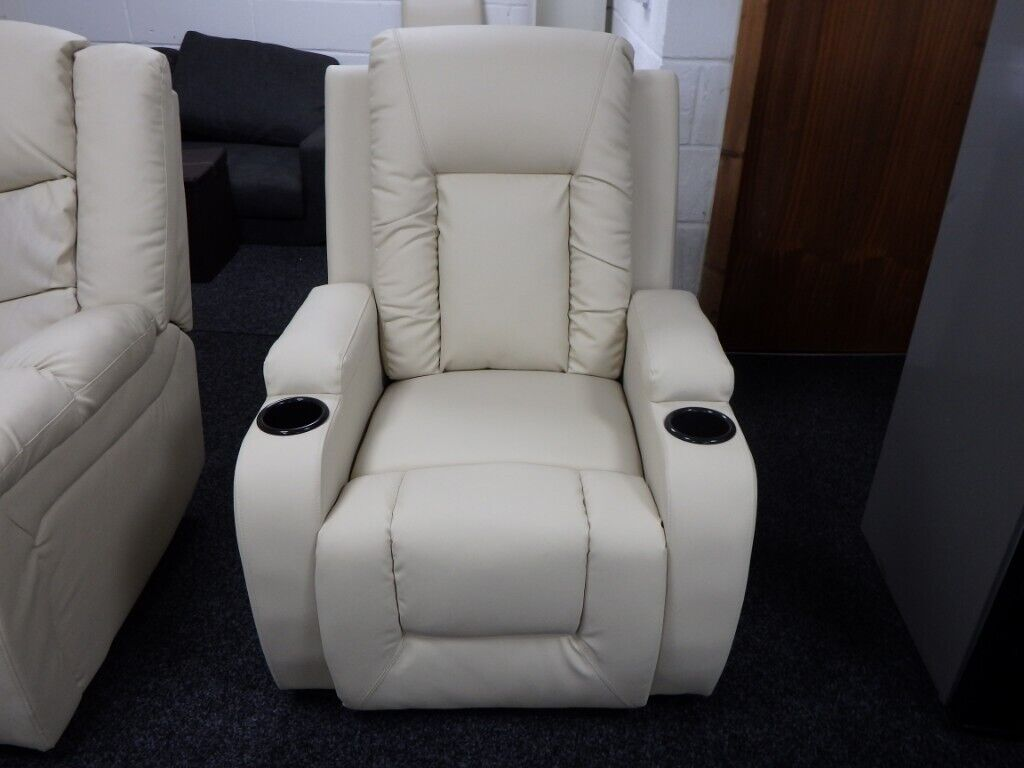 Tremendous Designer Oscar Cream Leather Recliner In Huddersfield West Yorkshire Gumtree Onthecornerstone Fun Painted Chair Ideas Images Onthecornerstoneorg