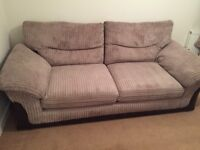 DFS Cord 3-seater sofa, mink colour
