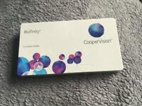 Biofinity CooperVision -2.50 pack of 6 lenses