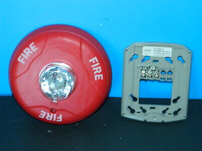 System Sensor Scr Fire Alarm Ceiling Strobe W Mount Plate 40 Available