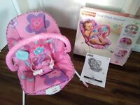 Fisher Price pink petals baby bouncer