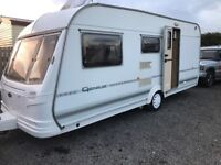 Coachman genius 520/4berth 2000 motor mover separate Cassette toilet and shower