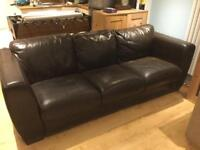 Leather sofa - free