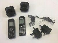 2 x Panasonic KX-TGA551E cordless home phones