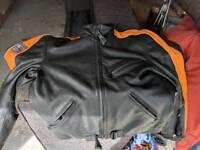 dainese motorbike leather jacket