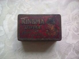 Vintage newcastle on tyne charlie chaplin toffee tin circa1920