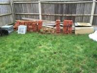 Engineering bricks, general red bricks and a lot of timber