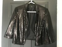 Black Sequin Jacket Size 14